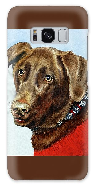 Chocolate Lab Galaxy Case - Beloved Dog Portrait  by Irina Sztukowski