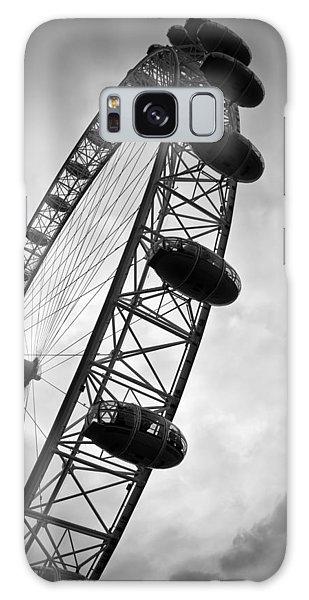 London Eye Galaxy Case - Below London's Eye Bw by Kamil Swiatek
