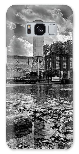 Below The Dam In Black And White Galaxy Case