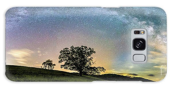 Below The Milky Way At The Blue Ridge Mountains Galaxy Case