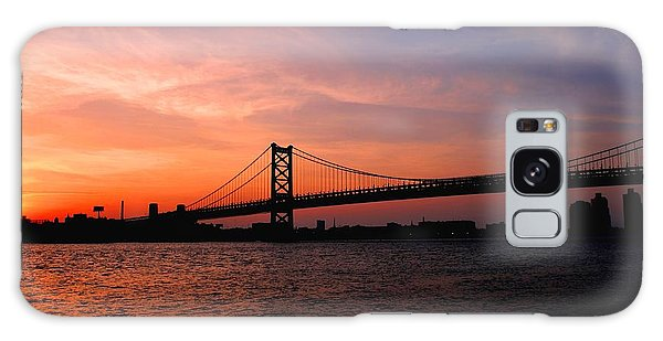 Ben Franklin Bridge Sunset Galaxy Case