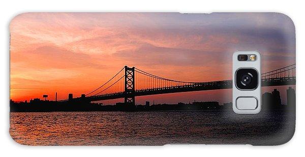 Ben Franklin Bridge Sunset Galaxy Case