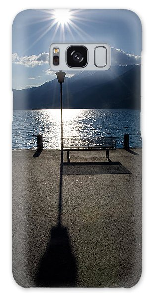Bench And Street Lamp Galaxy Case