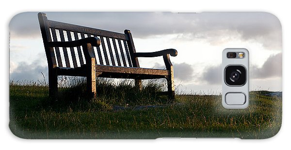 Bench At Sunset Galaxy Case