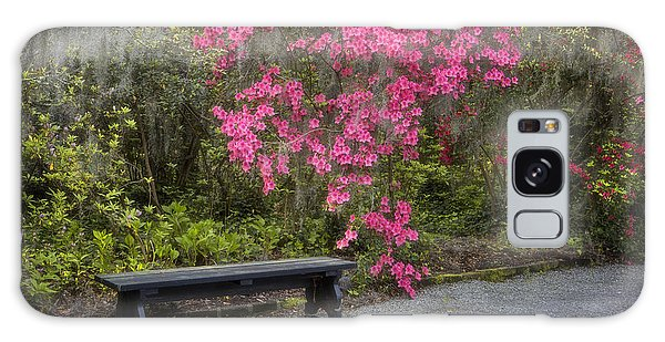 Bench In Azalea Garden Galaxy Case