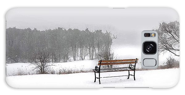 Bench In Snow Galaxy Case