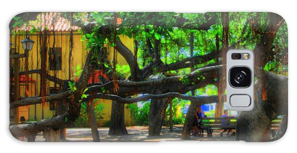Beneath The Banyan Tree Galaxy Case by DJ Florek