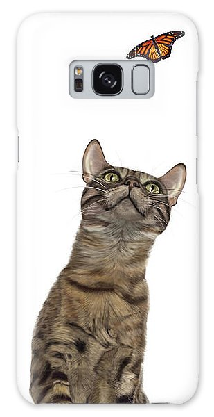 Bengal Cat With Butterfly Galaxy Case