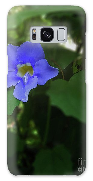 Bengal Trumpet Flower Blue Tones Galaxy Case