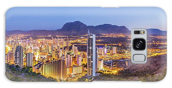 Benidorm At Sunrise, Spain. Galaxy Case