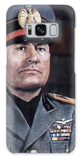 Benito Mussolini Color Portrait Circa 1935 Galaxy Case