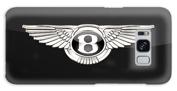 Automotive Galaxy Case - Bentley - 3 D Badge On Black by Serge Averbukh