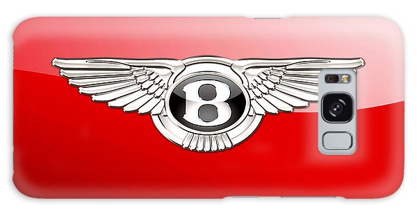 Automotive Galaxy Case - Bentley 3 D Badge On Red by Serge Averbukh