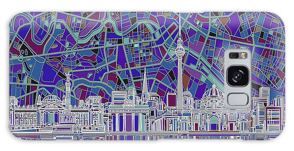 Berlin City Skyline Abstract 3 Galaxy Case by Bekim Art