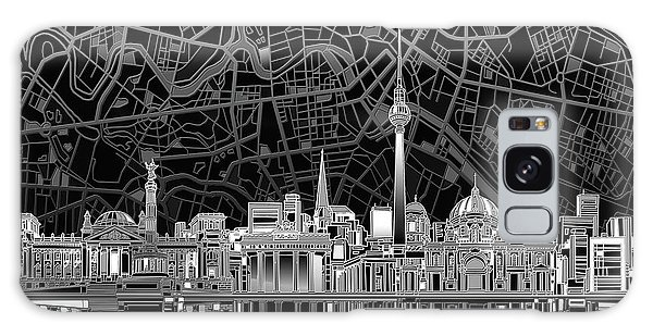 Berlin City Skyline Abstract 4 Galaxy Case by Bekim Art