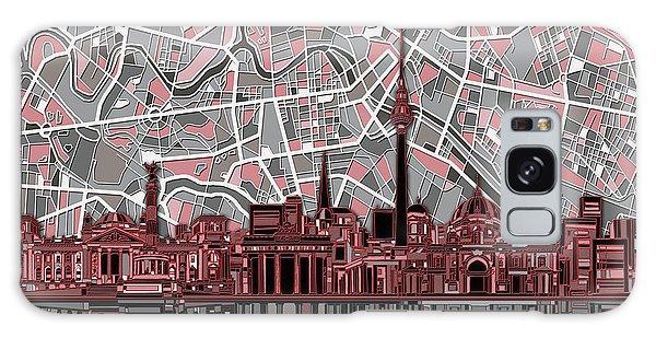 Berlin City Skyline Abstract Galaxy Case by Bekim Art