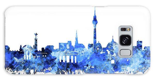 Berlin City Skyline Blue Galaxy Case by Bekim Art