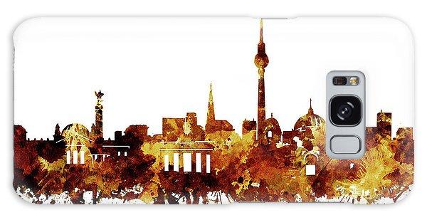 Berlin City Skyline Brown Galaxy Case by Bekim Art