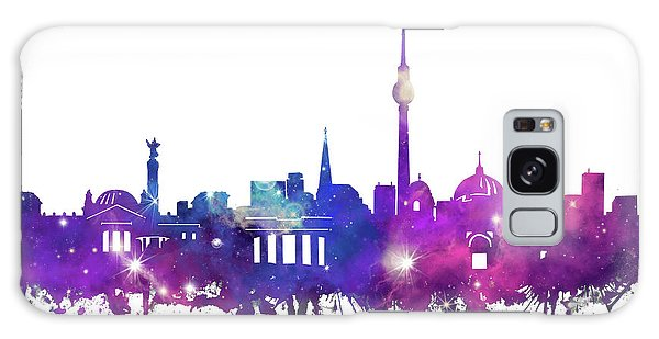 Berlin City Skyline Galaxy Galaxy Case by Bekim Art