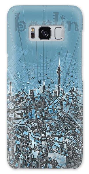 Berlin City Skyline Map 3 Galaxy Case by Bekim Art