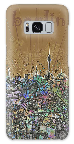 Berlin City Skyline Map 4 Galaxy Case by Bekim Art