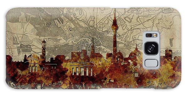 Berlin City Skyline Vintage Galaxy Case by Bekim Art