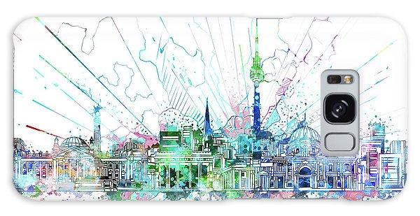 Berlin City Skyline Watercolor 3 Galaxy Case by Bekim Art