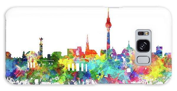 Berlin City Skyline Watercolor Galaxy Case by Bekim Art