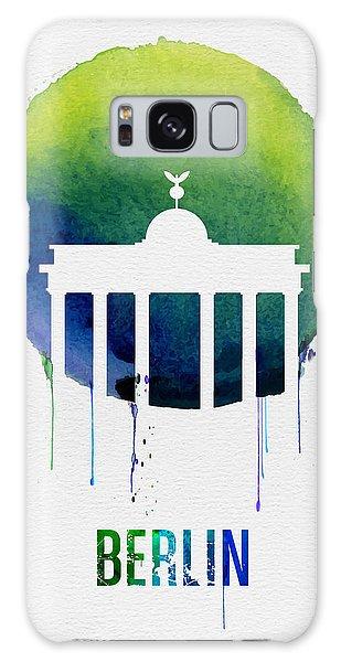 Berlin Galaxy Case - Berlin Landmark Blue by Naxart Studio