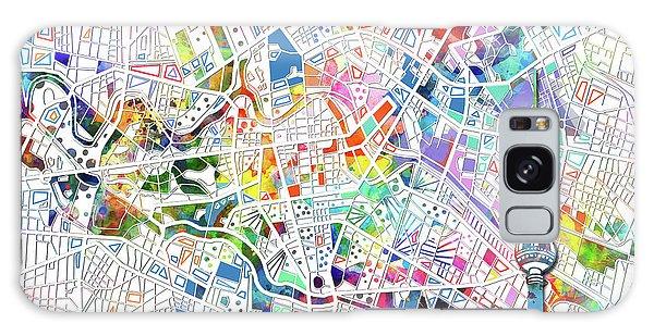 Berlin Map White Galaxy Case by Bekim Art