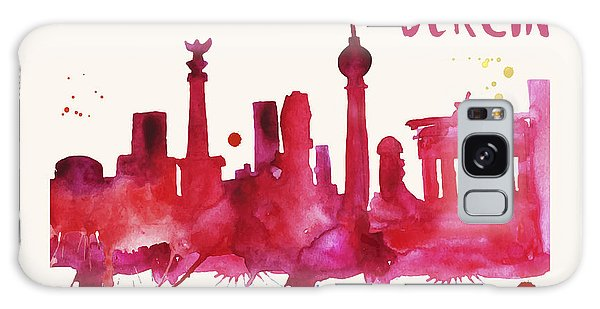 Berlin Skyline Watercolor Poster - Cityscape Painting Artwork Galaxy Case