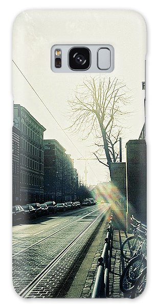Berlin Street With Sun Galaxy Case
