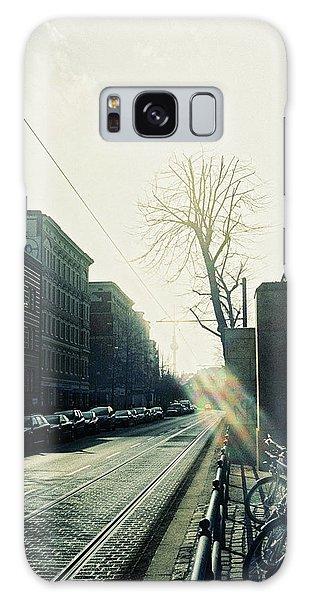 Berlin Street With Sun Galaxy Case