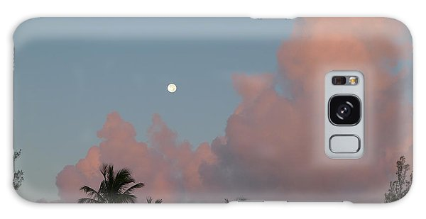 Bermuda Morning Moon Galaxy Case by Richard Reeve