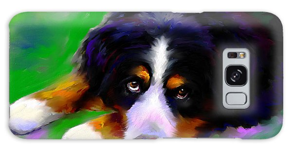 Bernese Mountain Dog Portrait Print Galaxy Case