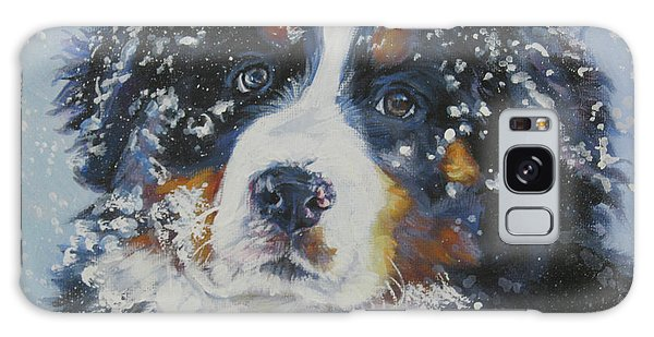 Bernese Mountain Dog Puppy Galaxy Case by Lee Ann Shepard