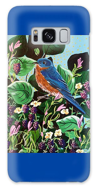 Berry Bluebird Galaxy Case