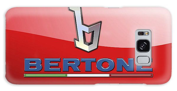 Automotive Galaxy Case - Bertone 3 D Badge On Red by Serge Averbukh