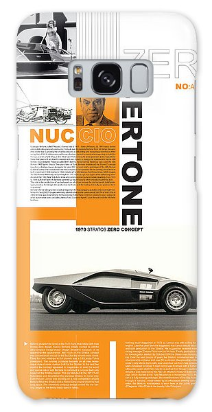 Sports Car Galaxy Case - Bertone Poster by Naxart Studio