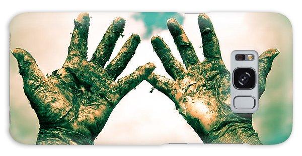 Beseeching Hands Galaxy Case