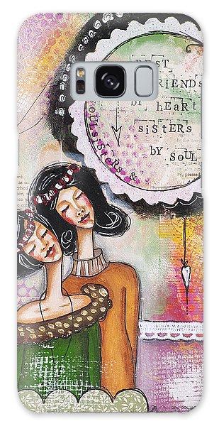 Best Friends By Heart, Sisters By Soul Galaxy Case