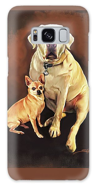 Best Friends By Spano Galaxy Case by Michael Spano