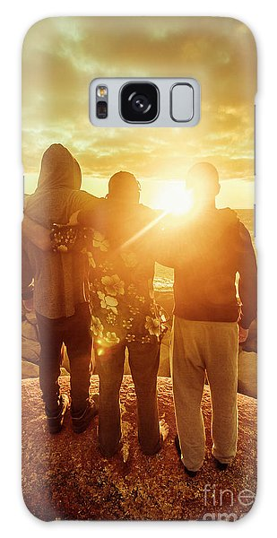 Tides Galaxy Case - Best Friends Greeting The Sun by Jorgo Photography - Wall Art Gallery