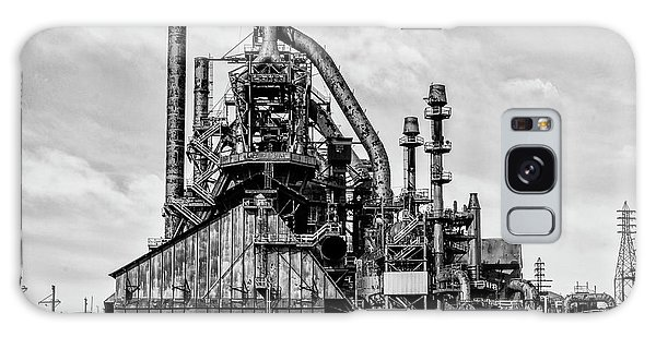 Bethlehem Pa Steel Plant  Side View In Black And White Galaxy Case by Bill Cannon