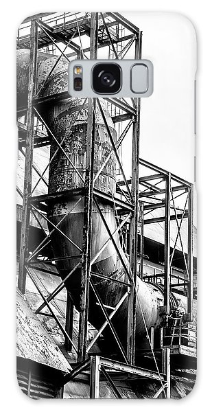 Bethlehem Steel - Black And White Industrial Galaxy Case by Bill Cannon