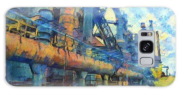 Bethlehem Steel Mill Watercolor Galaxy Case by Bill Cannon