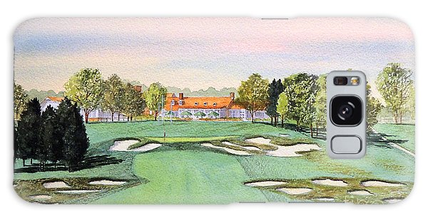 Galaxy Case featuring the painting Bethpage State Park Golf Course 18th Hole by Bill Holkham