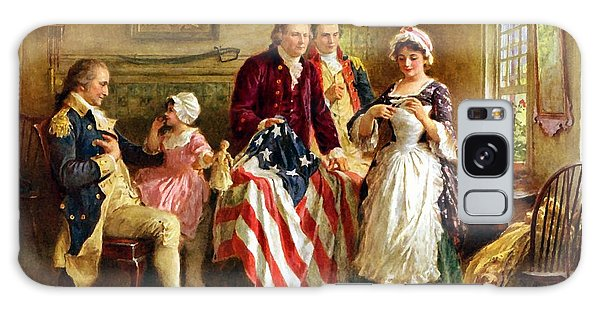 Hero Galaxy Case - Betsy Ross And General George Washington by War Is Hell Store