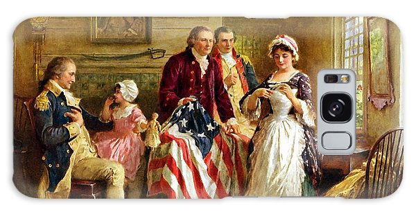 Patriotic Galaxy Case - Betsy Ross And General George Washington by War Is Hell Store