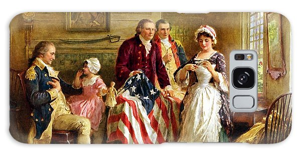 Betsy Ross And General George Washington Galaxy Case